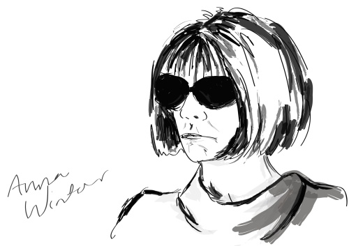 illustration of Anna Wintour