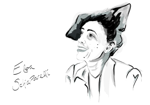 illustration of Elsa Shiaparelli