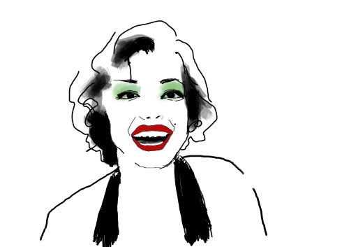 illustration of marylin monroe
