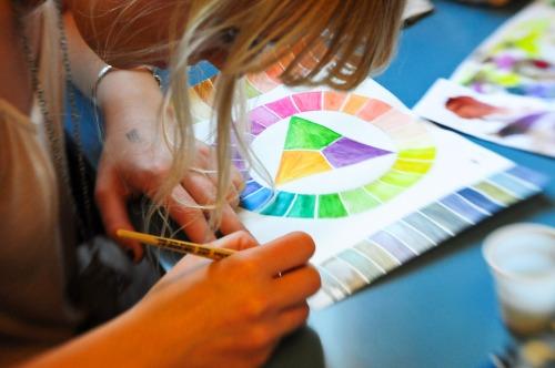 färg lära i skolan
